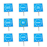 EU / Europe border signs Stock Image