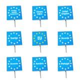 EU / Europe border signs Royalty Free Stock Photos