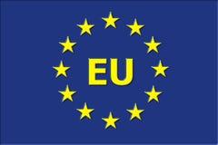 EU European union. European union flag with EU Stock Photos