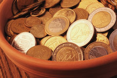 EU (European Union coins) Stock Image