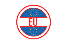 EU. ROPEAN UNION Rubber stamp over a white background Stock Photo