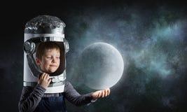 Eu explorarei o espaço Meios mistos Imagem de Stock