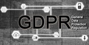 EU för begrepp GDPR för dataskydd och säkerhet av att använda informaen arkivfoton