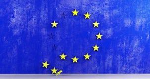 EU fallen Eurosceptic 4k Flagge Europäischer Gemeinschaft stock footage