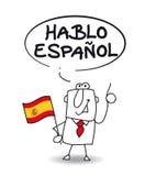 Eu falo o espanhol Imagens de Stock