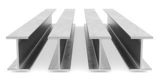 Eu-feixe de aço Feixe da flange no fundo branco Imagem de Stock Royalty Free
