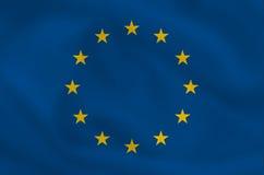 EU Flag. Waving EU flag (can be background Stock Images
