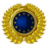 EU flag. In a wreath Stock Photography