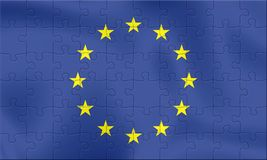 EU Flag. From 70 puzzle pieces Royalty Free Stock Photography