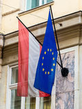 Eu flag and austria flag Stock Photography