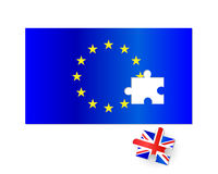 EU Flag Brexit Jigsaw Stock Images
