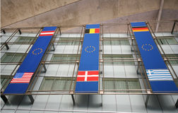 EU flag on building Royalty Free Stock Photography