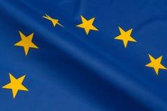 EU Flag. Close up of flag of European Union royalty free stock image
