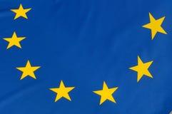 EU Flag. Close up of flag of European Union stock images