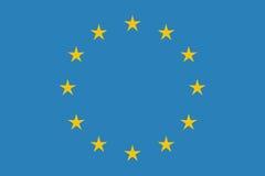 EU flag in closeup Stock Photo