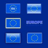 Eu flag collection Royalty Free Stock Images