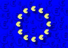EU flag and euro Royalty Free Stock Images