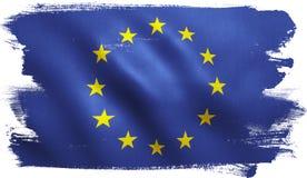 EU Flag. European Union EU flag background with fabric texture Stock Photo