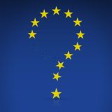 EU flag in the form of a question mark Stock Photography