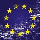 EU flag with grunge. Vector illustration eps10 Royalty Free Stock Photo