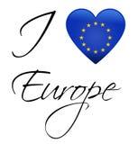 EU flag. I Love Europe - European union flag Stock Photo