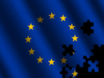 EU flag jigsaw Royalty Free Stock Image