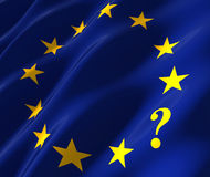 Eu flag with questionmark Royalty Free Stock Photography
