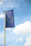 Eu flag with sky Royalty Free Stock Images
