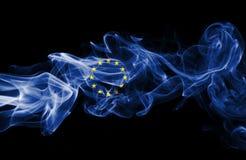 Eu flag smoke Stock Image