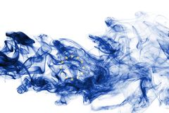 Eu flag smoke Stock Photo