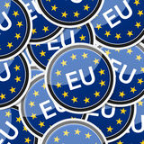 EU flag sticker symbol Royalty Free Stock Photography