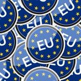 EU flag sticker symbol. EU - European flag, icon sticker style collection with shadow Royalty Free Stock Photography