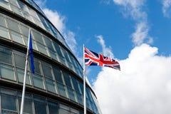 EU Flag and Union Jack Royalty Free Stock Images