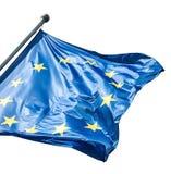 EU flag on white Stock Photo