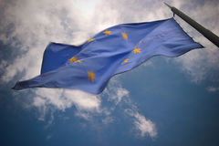EU Flag in the Wind Stock Images