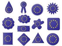 eu flaga etykietka royalty ilustracja