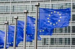 Eu-Flaggen Lizenzfreie Stockbilder