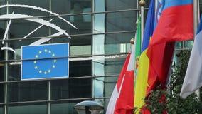 EU-Flaggen die Schweiz, Finnland, Rumänien, Portugal, Europäische Gemeinschaft stock video