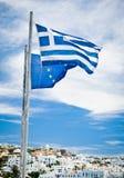 eu flags грек Стоковые Изображения