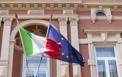 eu flags итальянка Стоковые Изображения RF