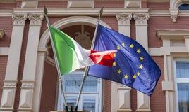 eu flags итальянка Стоковое Изображение