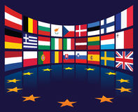 EU Flags Stock Photo