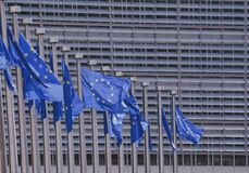EU flags Royalty Free Stock Image