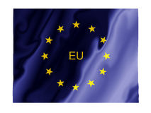 EU fluttering. Fluttering image of the European Union flag Stock Photo