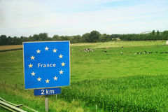 EU France board sign Stock Photos