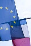 EU and French flag Stock Image