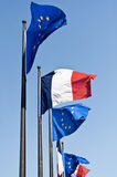 EU and French flags Stock Image