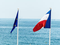 Eu and french flags Stock Images