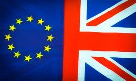 EU gegen Großbritannien Stockfotos