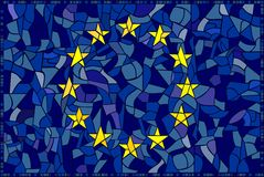 EU glass mosaic Stock Image